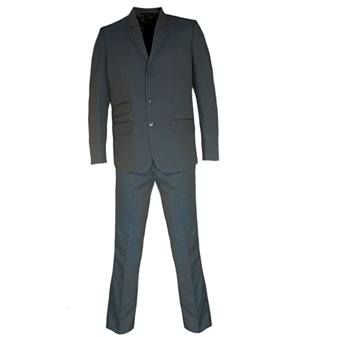 Men's Vintage Style Suits, Classic Suits Relco Mens Tonic Blue/Black Retro Mod Suits £149.99 AT vintagedancer.com
