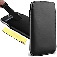 Cubot S308 Case Pouch - [ Black ] Slip Cover Purse Sleeve Soft PU Leather Holster Pocket Mobile Phone Smartphone Bag