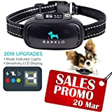 Barklo Anti-Bark Collar Provides Safe, Effective Vibrating Shock Correction To Eliminate Excessive Barking ��Waterproof Design, Rechargeable Battery ��7 Levels Of Sensitivity For Small And Large Dogs