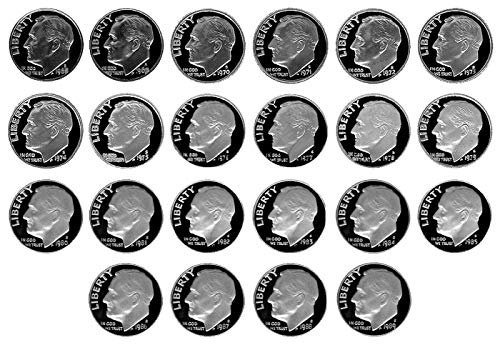 (1968 S - 1999 Complete Set Proof Roosevelt Dimes - 32 Proof Coins - 10c Beautiful Proofs to DCAM)
