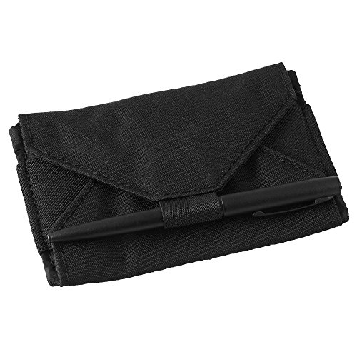 """Rite in the Rain Weatherproof Index Card Kit: Black CORDURA Fabric Cover, 100 Gray 3"""" x 5"""" Index Cards, and an Weatherproof Pen (No. 991B-KIT) by Rite In The Rain"""