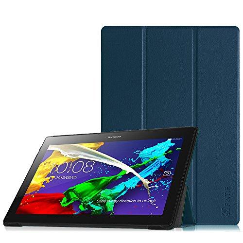 Fintie Lenovo Tab 2 A10-70 / Tab 3 10 Business Hülle Case - Ultra Slim Superleicht Stand Cover Tasche Etui für Lenovo Tab 2 A10-70 / Tab 2 A10-70L / Tab 2 A10-70F / Tab 3 10 Business 10,1 Zoll Tablet, Marineblau