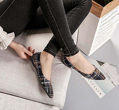 Freizeitschuhe On huateng Bequeme Bootsschuhe Damen Damen Weiche Casual Schuhe Slip Schuhe Flache Grau xxafzU