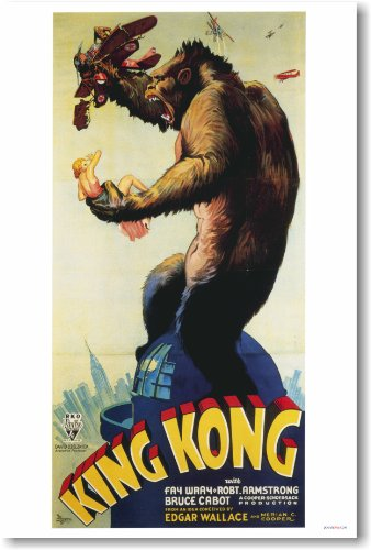 PosterEnvy Reprint King Kong 1933 Movie Poster