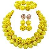 laanc Women Gorgeous Beads Necklace, Statement Jewelry, Chunky Necklace, Bubble Necklace Jewelry