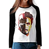 LOVEGIFTTO LADY Womens Tony Stark Iron Man O-Neck Long Sleeve Raglan Tee Shirt Medium