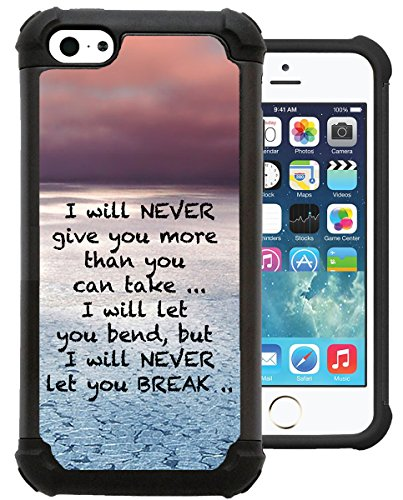 CorpCase iPhone 5C Case / iPhone 5C Cover - Bible Verse Christian Quote I Will Never Give You More Than You Can Take / Hybrid Unique Case With Great Protection