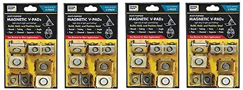 [해외]튼튼한 손 도구 MVDF44 조정 가능한 자기 V 패드 4 피스 (Fyur Akk) / Strong hand Tools MVDF44 Adjustable Magnetic V-Pads 4-Piece (Fоur Расk)