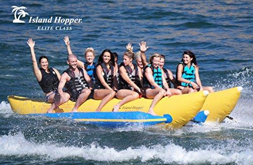 - Island Hopper 10 Passenger Side-by-Side Elite Class Heavy Commercial Banana Boat Towable Tube