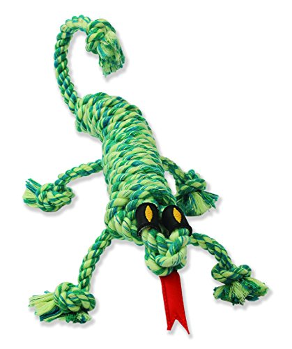 "Mammoth Snakebiter Iguana  Rope Dog Toy 16""  (Assorted Colors)"