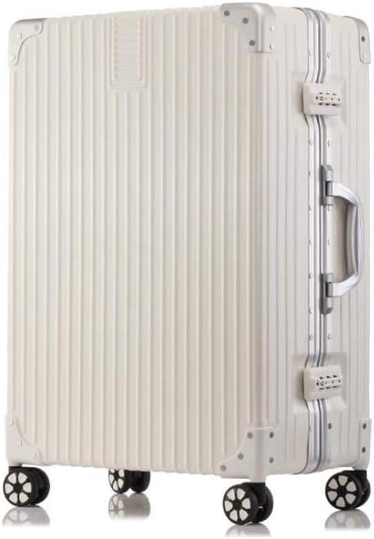 Luggage Bag Travel Suitcase Luxury Check-in Suitcase Large Capacity Hardshell Holdall Bag Ultra Light Cabin Case Vintage Silver Color : B, Size : 352348cm Qzny Suitcase