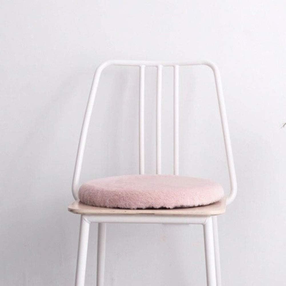 Love House Redonda Felpa Cojín para Silla Espuma de la Memoria Acolchado cojín para Oficina, sillas de Comedor sillas Super Suave Cojines de Asiento Piso de Dormitorio -Rosado 40x40cm(16x16inch)