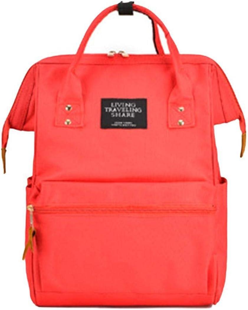 Samifa Women Casual Mommy Feeding Bottle Backpack Zipper Student Schoolbag Backpacks