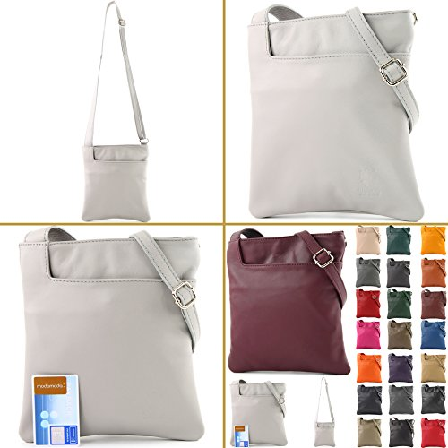 de modamoda bag Small Nappa Graubraun T162 bag leather Shoulder bag Leather ital Shoulder S1dwRrSq