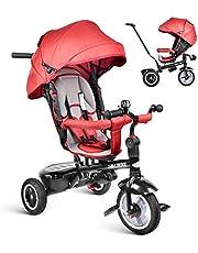 besrey Triciclos Bebes, Triciclo Bebe evolutivo 7 en 1 Bicicletas para Infantil Niños Reclinable Triciclo Cochecito con Cuna Reversible al Padres
