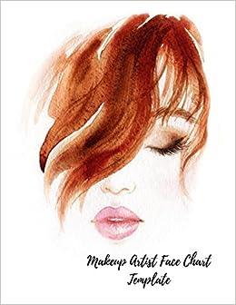 Makeup Artist Face Chart Template Female Faces Large