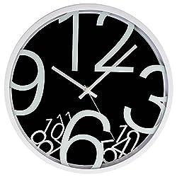 LGI Quartz Wall Clock - Modern Contemporary Wall Clock - Select your Color (Black)