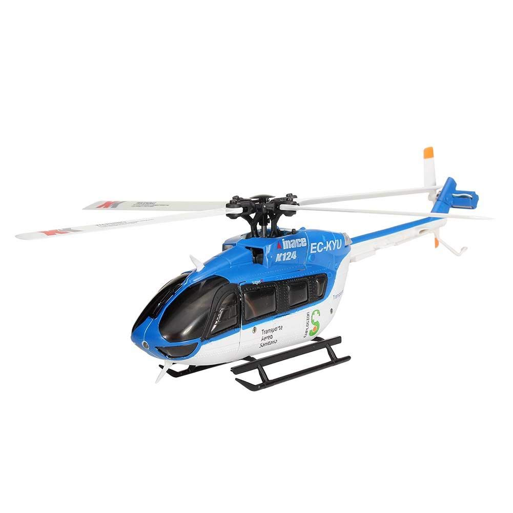 Luckycyc Children Remote Control Helicopter Toy, 2.4G XK K124 6CH Brushless EC145 3D6G System RC Helicopter RTF by Luckycyc (Image #2)