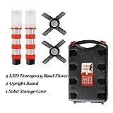 2 LED Emergency Road Flares Red Roadside Beacon