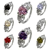 Fashion Wholesale Lots 100pcs Colorful Rhinestone Ring for Women Girl Gift (Ring DIA 17mm) (Colorful---50pcs)