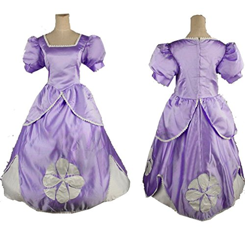 [Cuterole Women Princess Sofia Costume Sofia the First Adult Party Dress Custom] (Sofia The First Costume For Adults)