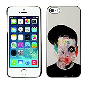 LECELL--Funda protectora / Cubierta / Piel For Apple iPhone 5 / 5S -- Abstract Horror Bow Meaning Art Deep --