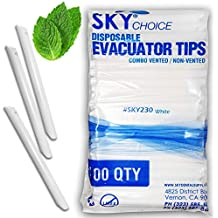 High Volume Evacuator Tips Combo, Vented, Non-Vented, White, (Pack of 100)