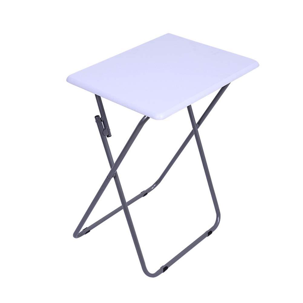 KSUNGB Klapptisch Quadrat Draussen tragbar Multifunktion Liege Esstisch, Computertisch Laptopständer Schreibtisch Lernen,Weiß,48  38  66cm
