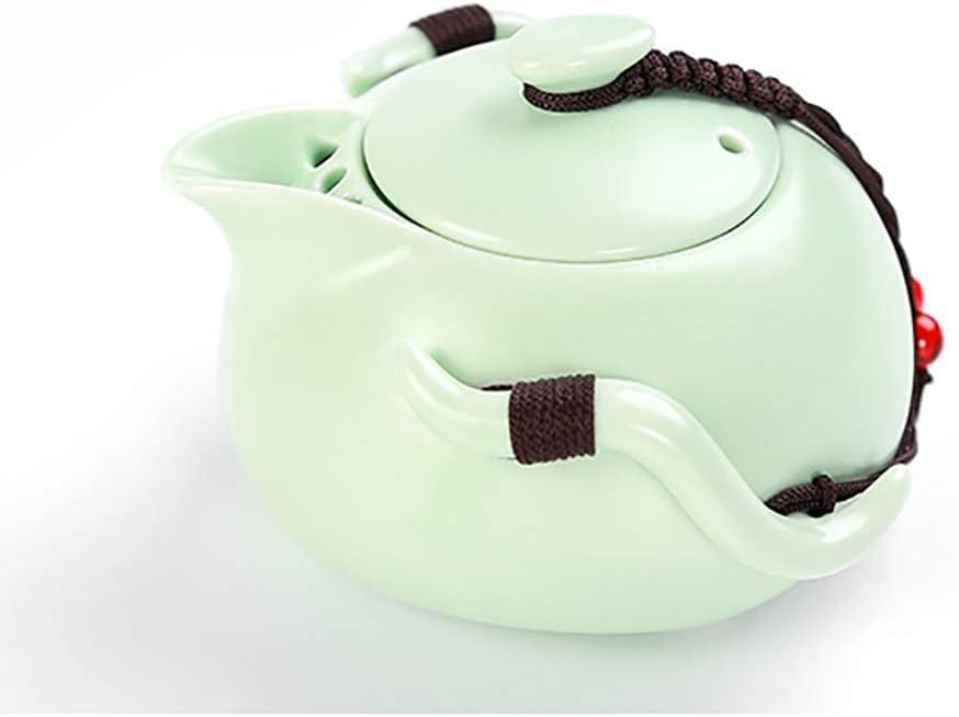 negro juego de t/é Kungfu vintage regalo perfecto para los amantes del t/é 1 juego de tetera port/átil con 4 tazas bandeja de madera bolsa de viaje