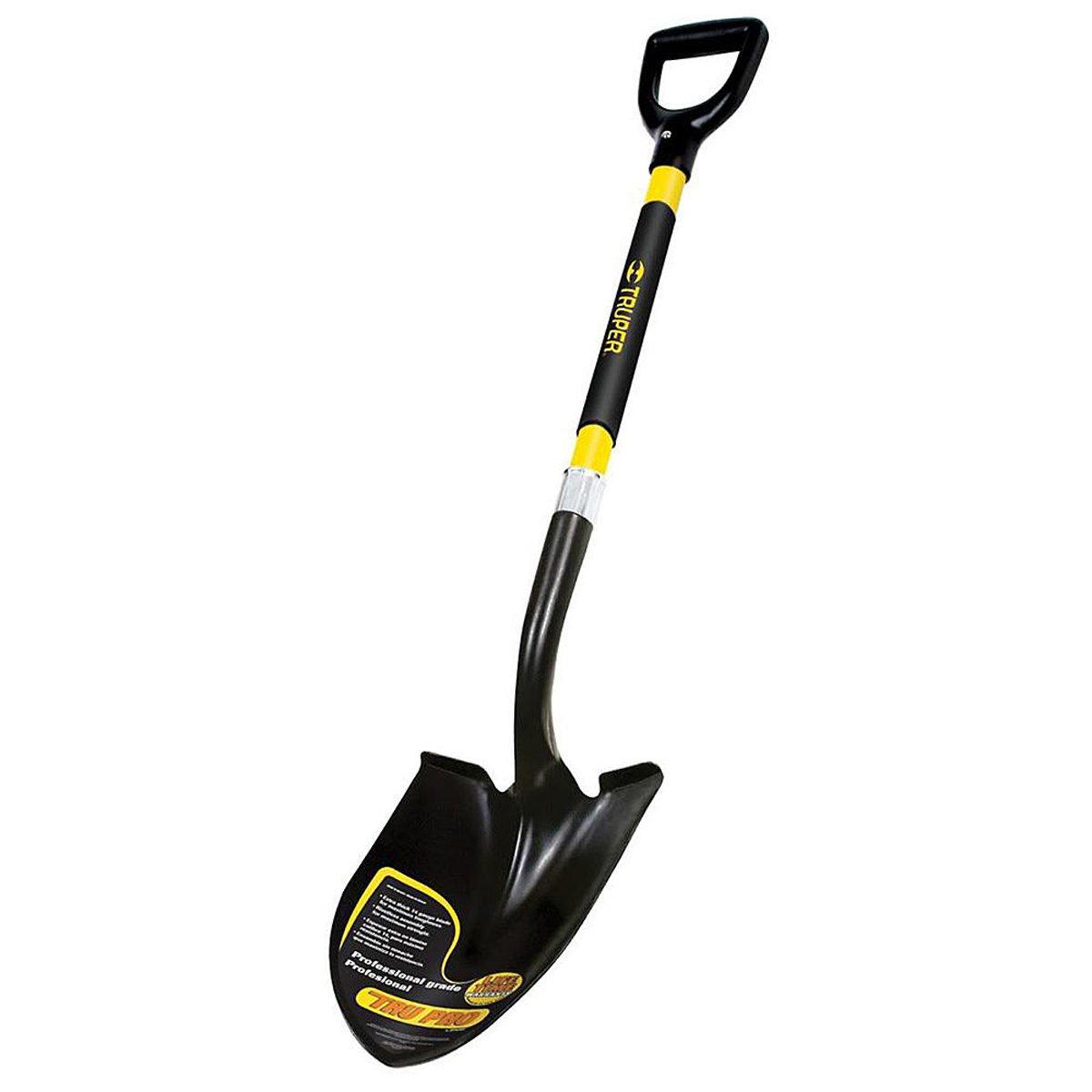 The Simple Fiberglass D-Shaped Handle of Truper Round Point Shovel
