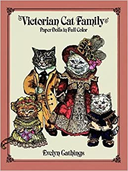 Book Victorian Cat Family Paper Dolls in Full Colour by Evelyn Gathings (2003-03-28)