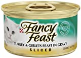 Fancy Feast Gourmet Cat Food, Sliced Turkey and Giblets Feast in Gravy, 3-Ounce Cans (Pack of 24), My Pet Supplies