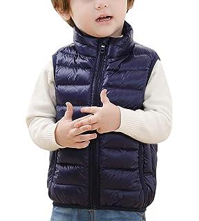 dc159ef4d24c6 Gilet Hiver Enfant Garçon Fille Col Haut Blouson Légère Manteau Doudoune  sans Manches