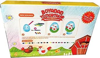 Yumurta Boyama Seti 4 Yumurta 2 Tavuk 12 Boya Amazon Com Tr