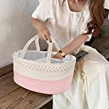 Maliton Diaper Caddy for Baby Girl-Cotton Rope