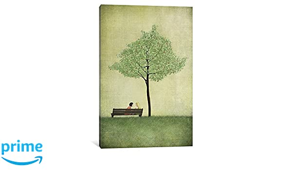iCanvasART The Cherry Tree Summer Canvas Print by Majali 26 x 18