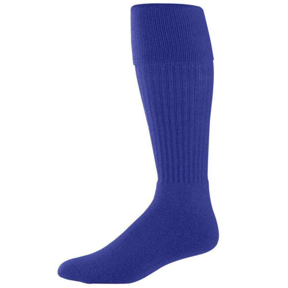 Augusta Activewear Soccer Socks -Youth, Purple, 7-9
