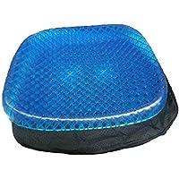 Deals - Cojín ortopédico de gel para silla de oficina o coche con funda antideslizante y…