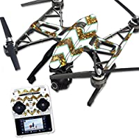 MightySkins Protective Vinyl Skin Decal for Yuneec Q500 & Q500+ Quadcopter Drone wrap cover sticker skins Glitter Chevron