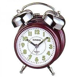 Casio TQ-362-4B Maroon Bedside Bell Alarm Snooze