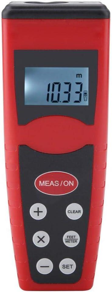 Qiterr Buscador de Alcance, CP-3000 LCD Digital de Mano Longitud de Distancia Medida de Mano Buscador de Alcance ultrasónico