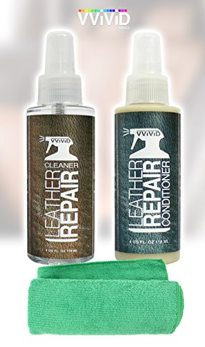 - VViViD Complete Leather Cleaner & Leather Conditioner 2-Pack 4oz Bottle Combo Including Microfibre Towel
