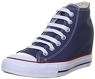 64c27abc876541 Converse All Star Wedge Womens Canvas Navy Trainers Size UK 3-8   Amazon.co.uk  Shoes   Bags