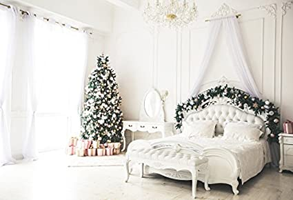 baocicco pastel bedroom christmas decorations backdrop 7x5ft cotton polyester photography backgroud christmas tree goft box white