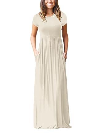 sale retailer 693fe 770bb Vestiti Donna Elegante Manica Corta Rotondo Collo Vita Alta ...