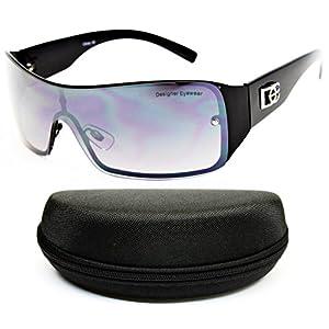 D1008-CC Designer/Diamond Eyewear Turbo Sunglasses (O1685B Black/Black-Smoked, smoked)