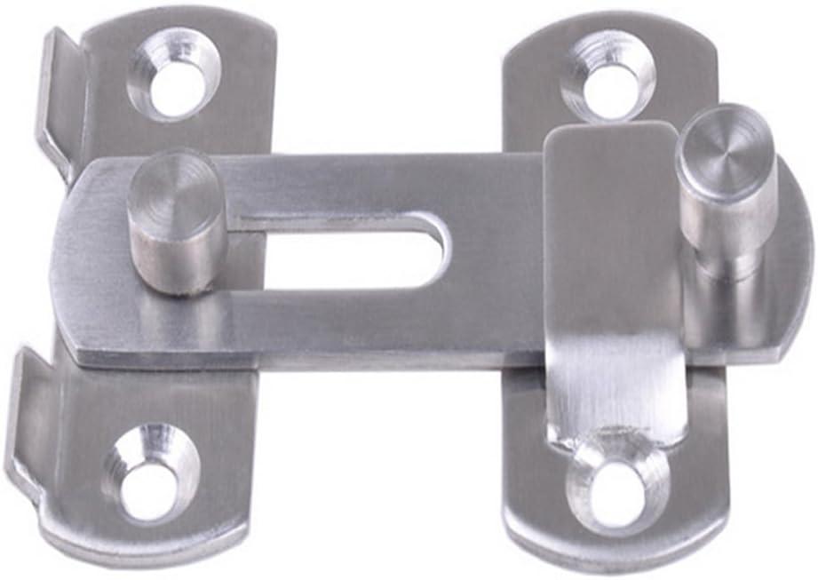 Pestillo con traba de acero inoxidable para puerta corredera, ventana o armario, accesorio