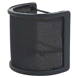 Tuloka Mic Pop Filter Metal Mesh and Foam Layer Mic Cover Handheld Microphone Pop Filter Windscreen Wind Screen Studio Shield Mount for USB Condenser Microphone, Black