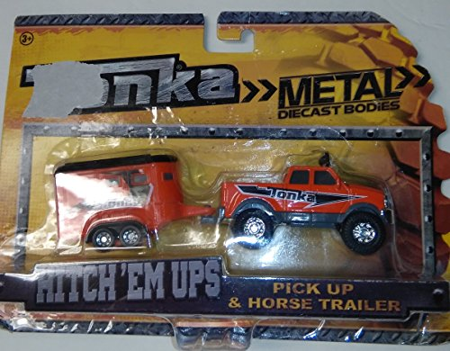 Tonka Hitch'em Ups Pickup and Horse Trailer (Tonka Trucks And Trailers)