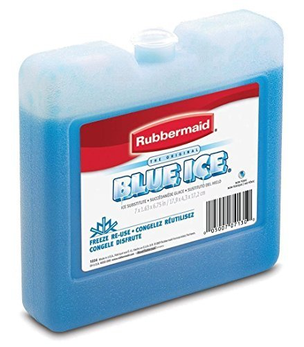 Rubbermaid Blue Ice Pack is an important tool for these camping food safety tips including how to pack a cooler for camping to store food the best way for keeping it cold